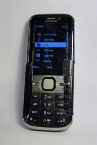 Mein ramponiertes Nokia im Dezember 2015.