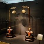 Chinesische Laternenhalter (mit Löwen).