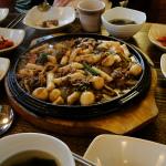 Bulgogi (불고기) - ein ausnahmsweise nicht scharfes Rindfleischgericht.