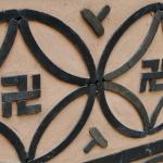 Swastika - ein buddhistisches Glückssymbol.