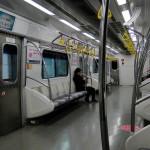 Eine fast leere U-Bahn - sehr selten!