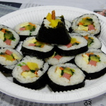 Mein Kimbap-Teller ... gar nicht schlecht oder? ;)