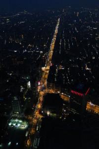 Aussicht vom Taipei 101 bei Nacht.