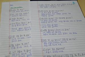 Für die mündliche Koreanischprüfung mussten wir einen Fragebogen ausarbeiten.
