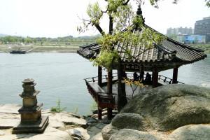 Der Han-Fluss liegt direkt vor der Haustür.