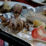 Mittagessen - Oktopus inklusive.
