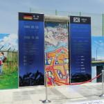 Ein Teil der Berliner Mauer erinnert an die deutsche Wiedervereinigung.
