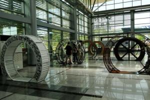 Die sieben Ringe stehen für die sieben Provinzen in Nordkorea.