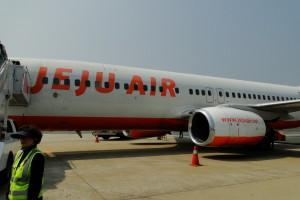 Jeju Air fliegt sogar mehrmals pro Stunde von Seoul nach Jeju.