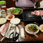 """Jeju ist bekannt für """"black pork"""" - leider sehr fett."""