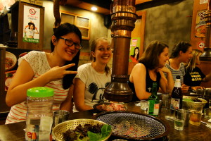 Magalie mit Freundinnen aus Kanada.