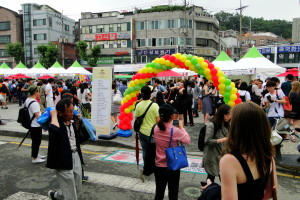 Beim Lateinamerika-Festival ...
