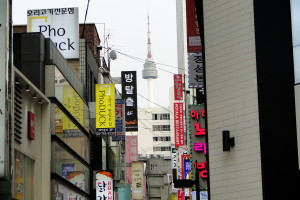 In Myeong-dong.