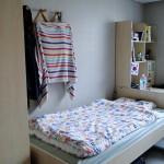 """Meine Zimmerhälfte vor der """"Räumung""""."""