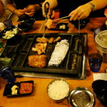 Letztes gemeinsames Abendessen in Seoul.