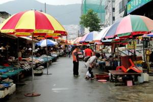 Ein weiterer Fischmarkt in Busan.