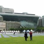 Vor meinem Abflug hab ich noch schnell bei der City Hall in Seoul vorbeigeschaut.